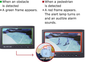 When an obstacle is detected/When a pedestrian is detected