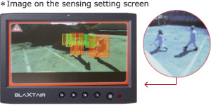 *Image on the sensing setting screen