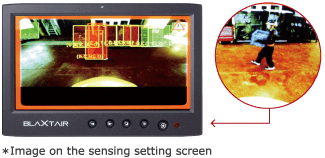*Image on the sensing setting screen