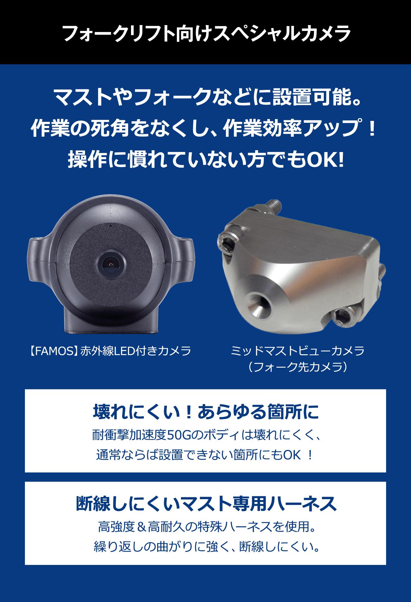 エウレカおすすめ!フォークリフト専用スペシャルカメラ